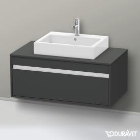 Duravit Ketho Waschtischunterschrank für Aufsatzwaschtisch mit 1 Auszug ohne Ausschnitt Front graphit matt / Korpus graphit matt
