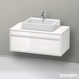 Duravit Ketho Waschtischunterschrank für Aufsatzwaschtisch mit 1 Auszug Front weiß hochglanz / Korpus weiß hochglanz