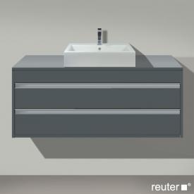 Duravit Ketho Waschtischunterschrank für Aufsatzwaschtisch mit 2 Auszügen Front graphit matt / Korpus graphit matt