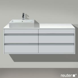 Duravit Ketho Waschtischunterschrank für Aufsatzwaschtisch mit 4 Auszügen Front weiß matt / Korpus weiß matt