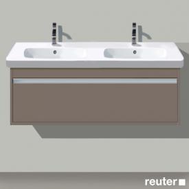 Duravit Ketho Waschtischunterschrank für Doppelwaschtisch mit 1 Auszug Front basalt matt / Korpus basalt matt