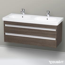 Duravit Ketho Waschtischunterschrank für Doppelwaschtisch mit 2 Auszügen Front pine terra / Korpus pine terra