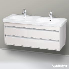 Duravit Ketho Waschtischunterschrank für Doppelwaschtisch mit 2 Auszügen Front weiß hochglanz / Korpus weiß hochglanz