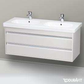 Duravit Ketho Waschtischunterschrank für Doppelwaschtisch mit 2 Auszügen Front weiß matt / Korpus weiß matt