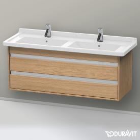 Duravit Ketho Waschtischunterschrank mit 2 Auszügen für Doppelwaschtisch Front europäische eiche / Korpus europäische eiche