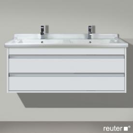 Duravit Ketho Waschtischunterschrank mit 2 Auszügen für Doppelwaschtisch Front weiß matt / Korpus weiß matt