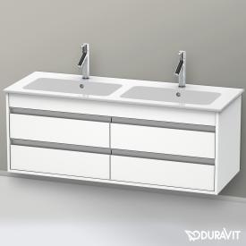 Duravit Ketho Waschtischunterschrank für Doppelwaschtisch mit 4 Auszügen Front weiß matt / Korpus weiß matt