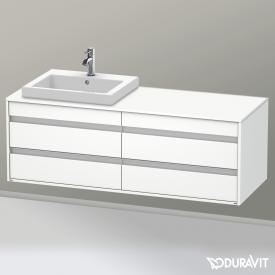 Duravit Ketho Waschtischunterschrank für Einbauwaschtisch mit 4 Auszügen Front weiß matt / Korpus weiß matt