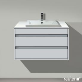 Duravit Ketho Waschtischunterschrank für Einbauwaschtisch mit 2 Auszügen Front weiß matt / Korpus weiß matt