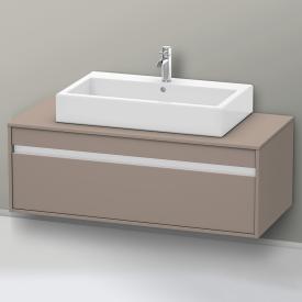 Duravit Ketho Waschtischunterschrank ohne Ausschnitt für Aufsatzwaschtisch Front basalt matt / Korpus basalt matt