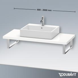 Duravit Konsole für 1 Aufsatz-/Einbauwaschtisch weiß hochglanz