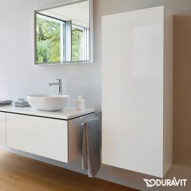 Duravit L-Cube Halbhochschrank mit 1 Tür Front weiß hochglanz / Korpus weiß hochglanz