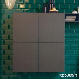 Duravit L-Cube Halbhochschrank mit 2 Türen Front eiche dunkel gebürstet / Korpus eiche dunkel gebürstet