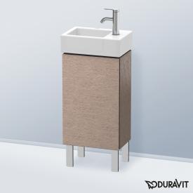 Duravit L-Cube Handwaschbeckenunterschrank mit 1 Tür Front eiche kaschmir / Korpus eiche kaschmir