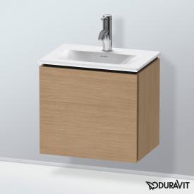 Duravit L-Cube Handwaschbeckenunterschrank mit 1 Tür Front europäische eiche / Korpus europäische eiche