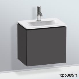 Duravit L-Cube Handwaschbeckenunterschrank mit 1 Tür Front graphit matt / Korpus graphit matt