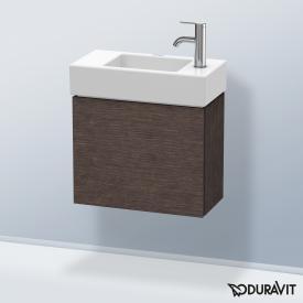 Duravit L-Cube Handwaschbeckenunterschrank mit 1 Tür Front eiche dunkel gebürstet / Korpus eiche dunkel gebürstet