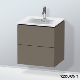 Duravit L-Cube Handwaschbeckenunterschrank  mit 2 Auszügen Front flannel grey seidenmatt / Korpus flannel grey seidenmatt