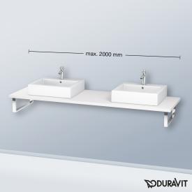 Duravit L-Cube Konsole für 2 Aufsatz-/Einbauwaschtische weiß matt