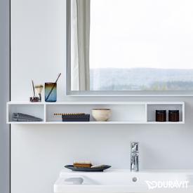 Duravit L-Cube Regalelement, horizontal weiß matt