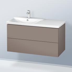 Duravit L-Cube Waschtischunterschrank mit 2 Auszügen Front basalt matt / Korpus basalt matt, mit Einrichtungssystem Ahorn