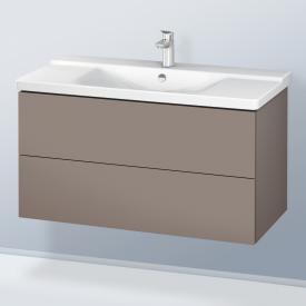 Duravit L-Cube Waschtischunterschrank mit 2 Auszügen Front basalt matt / Korpus basalt matt, mit Einrichtungssystem Nussbaum