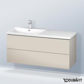 Duravit L-Cube Waschtischunterschrank mit 2 Auszügen Front taupe matt / Korpus taupe matt, ohne Einrichtungssystem