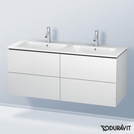 Duravit L-Cube Waschtischunterschrank mit 4 Auszügen für Doppelwaschtisch Front weiß matt / Korpus weiß matt, ohne Einrichtungssystem