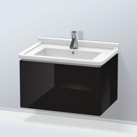 Duravit L-Cube Waschtischunterschrank mit 1 Auszug Front schwarz hochglanz / Korpus schwarz hochglanz, ohne Einrichtungssystem