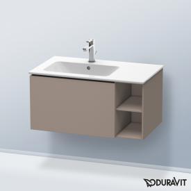 Duravit L-Cube Waschtischunterschrank mit 1 Auszug und 1 Regalelement Front basalt matt / Korpus basalt matt, ohne Einrichtungssystem