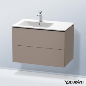 Duravit L-Cube Waschtischunterschrank mit 2 Auszügen Front basalt matt / Korpus basalt matt, ohne Einrichtungssystem