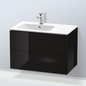 Duravit L-Cube Waschtischunterschrank mit 2 Auszügen Front schwarz hochglanz / Korpus schwarz hochglanz, ohne Einrichtungssystem