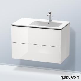 Duravit L-Cube Waschtischunterschrank mit 2 Auszügen Front weiß hochglanz / Korpus weiß hochglanz, ohne Einrichtungssystem