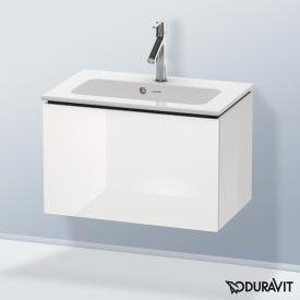 Duravit L-Cube Waschtischunterschrank Compact mit 1 Auszug Front weiß hochglanz / Korpus weiß hochglanz, ohne Einrichtungssystem