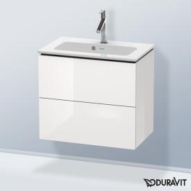 Duravit L-Cube Waschtischunterschrank Compact mit 2 Auszügen Front weiß hochglanz / Korpus weiß hochglanz, ohne Einrichtungssystem