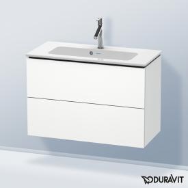 Duravit L-Cube Waschtischunterschrank Compact mit 2 Auszügen Front weiß matt / Korpus weiß matt, ohne Einrichtungssystem
