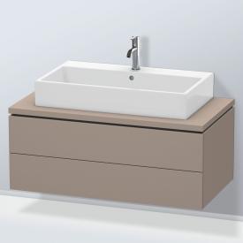 Duravit L-Cube Waschtischunterschrank für Konsole mit 2 Auszügen Front basalt matt / Korpus basalt matt, ohne Einrichtungssystem