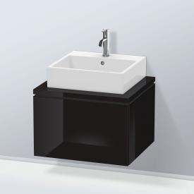 Duravit L-Cube Waschtischunterschrank für Konsole mit 1 Auszug Front schwarz hochglanz / Korpus schwarz hochglanz, ohne Einrichtungssystem