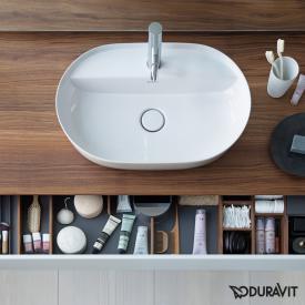 Duravit Luv Aufsatzwaschtisch sand matt/weiß