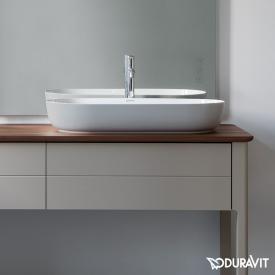 Duravit Luv Aufsatzwaschtisch grau matt/weiß, mit WonderGliss