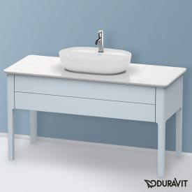 Duravit Luv Waschtischunterschrank für Konsole mit 1 Auszug Front lichtblau seidenmatt / Korpus lichtblau seidenmatt, mit Einrichtungssystem in Ahorn