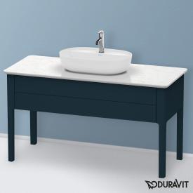 Duravit Luv Waschtischunterschrank für Konsole mit 1 Auszug Front nachtblau seidenmatt / Korpus nachtblau seidenmatt, mit Einrichtungssystem in Ahorn