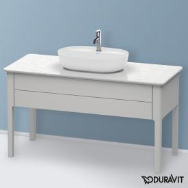 Duravit Luv Waschtischunterschrank für Konsole mit 1 Auszug Front nordic weiß seidenmatt / Korpus nordic weiß seidenmatt, mit Einrichtungssystem in Nussbaum