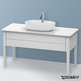 Duravit Luv Waschtischunterschrank für Konsole mit 1 Auszug Front weiß seidenmatt / Korpus weiß seidenmatt, mit Einrichtungssystem in Ahorn