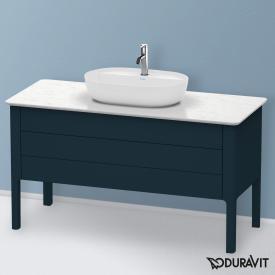 Duravit Luv Waschtischunterschrank für Konsole mit 2 Auszügen Front nachtblau seidenmatt / Korpus nachtblau seidenmatt, mit Einrichtungssystem in Ahorn