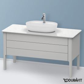 Duravit Luv Waschtischunterschrank für Konsole mit 2 Auszügen Front nordic weiß seidenmatt / Korpus nordic weiß seidenmatt, mit Einrichtungssystem in Nussbaum