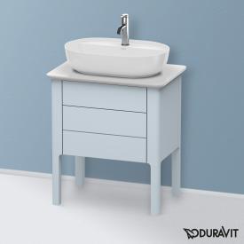 Duravit Luv Waschtischunterschrank für Konsole mit 2 Auszügen Front lichtblau seidenmatt / Korpus lichtblau seidenmatt