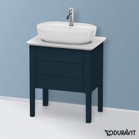 Duravit Luv Handwaschbeckenunterschrank für Konsole mit 2 Auszügen Front nachtblau seidenmatt / Korpus nachtblau seidenmatt