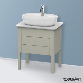 Duravit Luv Waschtischunterschrank für Konsole mit 2 Auszügen Front taupe seidenmatt / Korpus taupe seidenmatt