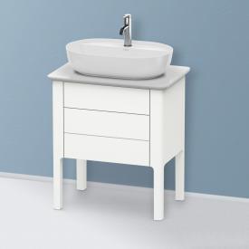 Duravit Luv Handwaschbeckenunterschrank für Konsole mit 2 Auszügen Front weiß seidenmatt / Korpus weiß seidenmatt
